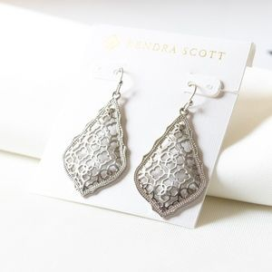 Kendra Scott Addie Drop Earrings Silver Filigree